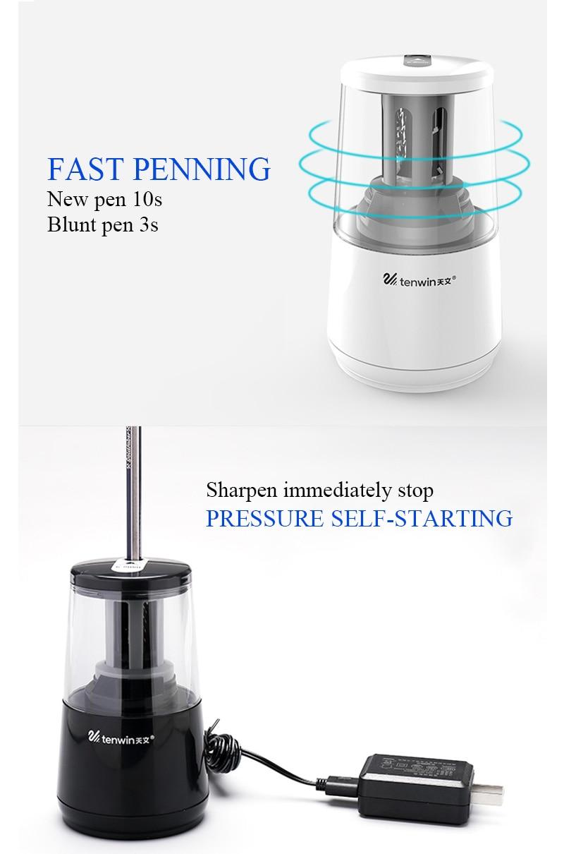 TENWIN Elétrica Apontador de Lápis Automático Eletrônico