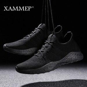 Image 2 - Кроссовки Xammep мужские сетчатые, повседневные брендовые сникерсы на плоской подошве, лоферы без застежки, дышащие, большие размеры, весна/осень/зима