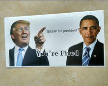 1 шт. Дональд Трамп Президента Сделать Америку Великой Снова Бампер Наклейки размер 10*20 см от Джесси
