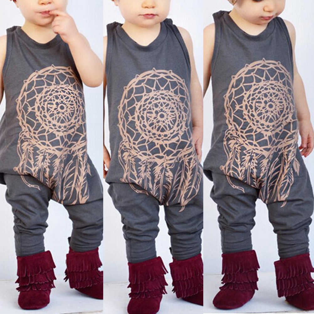 fdc0b87c0a7c6 New Arrival Cute Toddler Baby Girls Boys Tattoo Print Romper Playsuit  Jumpsuit Outfits Clothes 2017 cute new style
