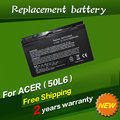 Jigu batería del ordenador portátil para acer aspire 3100 5100 9110 series batbl50l6 batcl50l6 5102 wlmi envío gratis