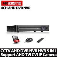 HKIXDISTE Home HD 4ch AHD DVR 1080N 720P HDMI 1080P Security Dvr 4ch Audio Security Surveillance
