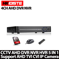 HKIXDISTE Home HD 4ch AHD DVR 1080N 720P HDMI 1080P Security Dvr 4ch Audio Security Surveillance