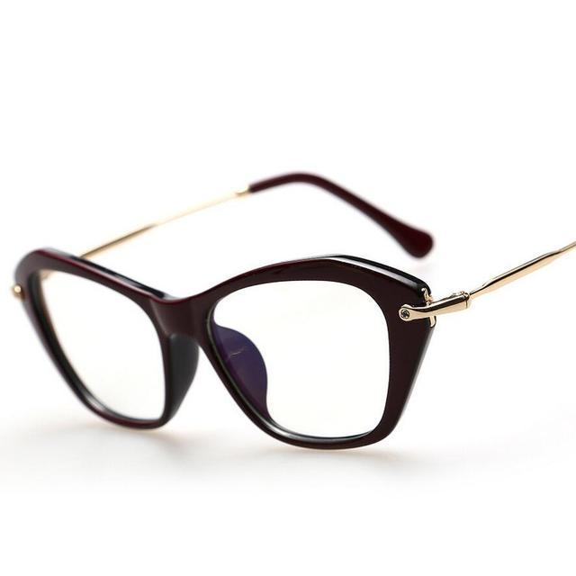 Cat Eyes Eyeglasses Ladies Myopia Glasses