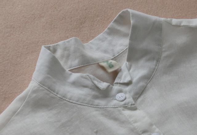 Flower Embroidery Stand Collar Long Sleeve Cotton Linen Blouse Mori Girl 2019 Autumn New Women Shirt Casual White Top