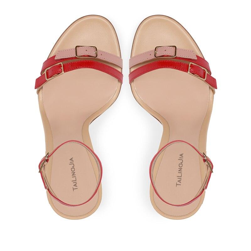 Moda Multi Fivela Sandália Enjaulado Sandálias de Salto Stiletto Mulheres Brancas de Tiras de Salto Alto Sapatos de Saltos Altos Das Senhoras Vestido de Festa de Verão - 3