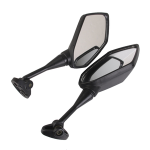 Image 3 - 1 Pair Universal Motorcycle Rearview Handlebar Mount Rear View Mirrors 6.3 x 3.5 Inch Back View Mirror Reduce Blind Spot