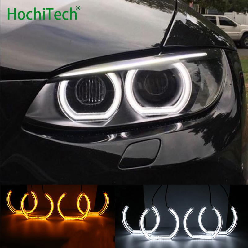 White and Turn Yellow Signal Crystal DTM Style LED Angel Eyes Halo Rings Light kits For BMW 3 Series E90 E92 E93 M3 2007-2013 борис свердлин киса