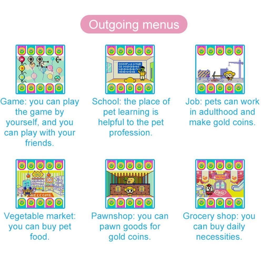 Hot !  for Tamagotchi Cartoon Electronic Pet Game Handheld game machine game Console Virtual Pet Kids Toy Gift 4