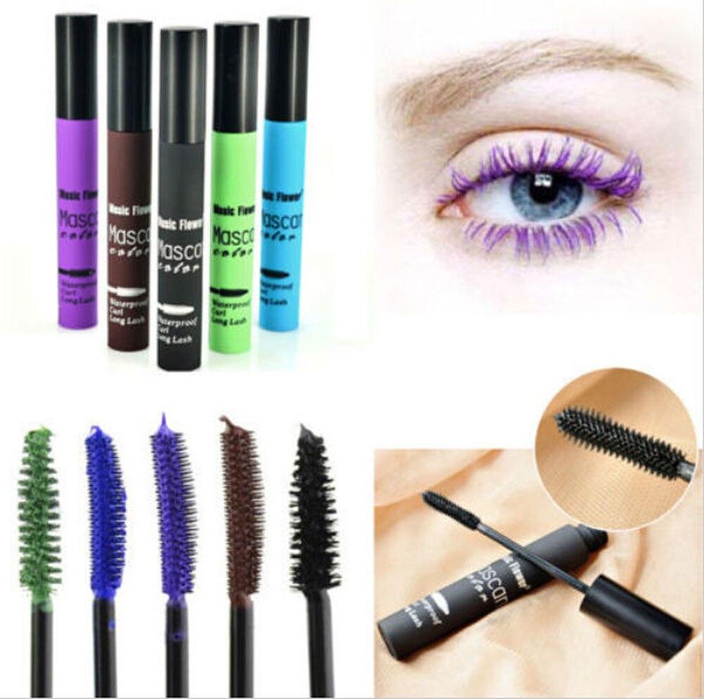 Colorful Waterproof Makeup Eyelash Long Curling Mascara Eye Lashes Extension Womens fashion Personality brush Wedding make-up