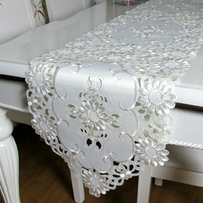 Margulies a c u aberto bordado toalha de mesa de jantar - Camino de mesa elegante en crochet ...