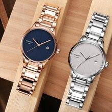 OCHSTIN reloj mecánico de lujo para hombre, pulsera de plata de acero, automático, con fecha, deportivo
