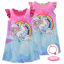 2019 Baby Kids Dresses Girls Dress Sleeveless Cute Clothing Children Princess Party Dress Unicorn Clothes Lol Doll Clothes 2-8t цены
