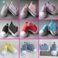 1pair 5cm mimi Canvas shoes Doll Accessories for1/6 Bjd Tilda doll Pink, purple, yellow, blue
