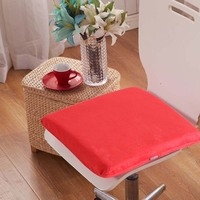 Short Plush Solid Color Memory Foam Cushion Dining Chair Seat Cushions 40x40cm Free Shipping