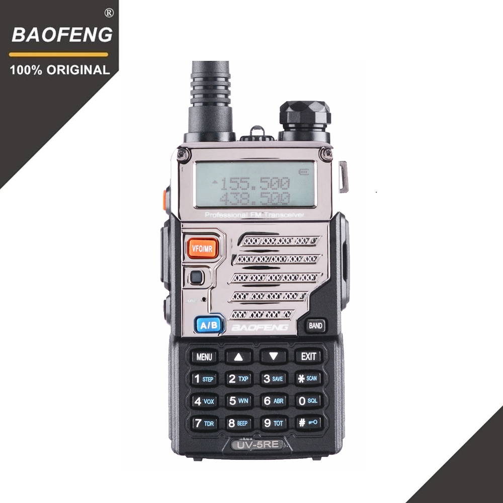 BaoFeng UV 5RE Walkie Talkie 10 km VHF UHF136 174Mhz&400 520Mhz Dual Band Two Way Radio UV 5R UV 5R CB Radio Ham Hf Transceiver-in Walkie Talkie from Cellphones & Telecommunications