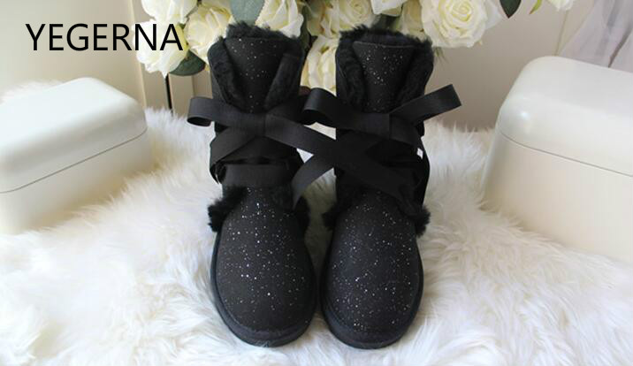 100% Genuine Sheepskin Leather Snow Boots Hot Sale New Fashion Natural Fur Fashion Boots  Real Wool Winter Women Shoes top quality fashion women ankle snow boots genuine sheepskin leather boots 100% natural fur wool warm winter boots women s boots