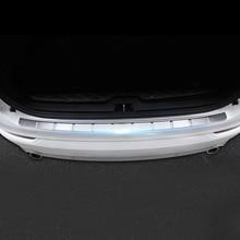Для Volvo XC90 2015 2016 2017 2018 Нержавеющаясталь стайлинга автомобилей Экстерьер аксессуары Outter Задний бампер протектор плиты крышка