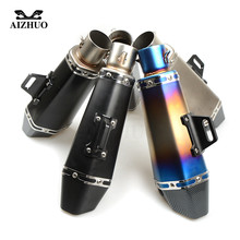 Universal 36-51MM Modified Motorcycle Exhaust Pipe Muffler FOR BMW R1200R R1200RT R1200S R1200ST S1000R S1000RR C600Sport