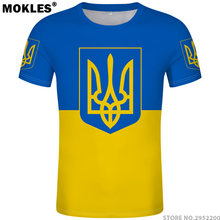 UKRAINE t shirt diy free custom made name number ukr T-Shirt nation flag ua ukrainian ykpaiha country college logo photo clothes(China)