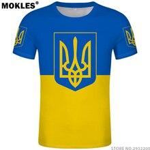 UKRAINE t shirt diy free custom made name number ukr T-Shirt nation flag ua 8da034a0e