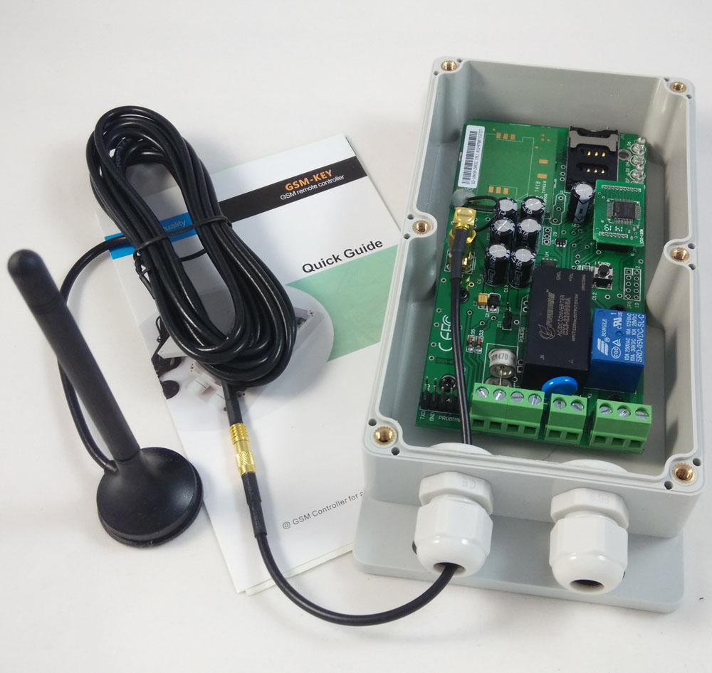 2015 New version GPRS version QUAD band worldwide design Sliding gate remote controller GSM-KEY-AC200