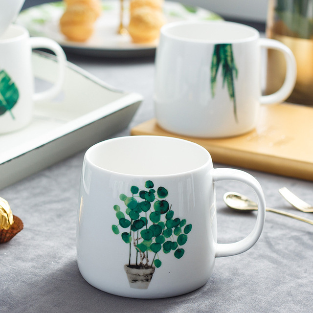 Creative Cactus Pattern Mug