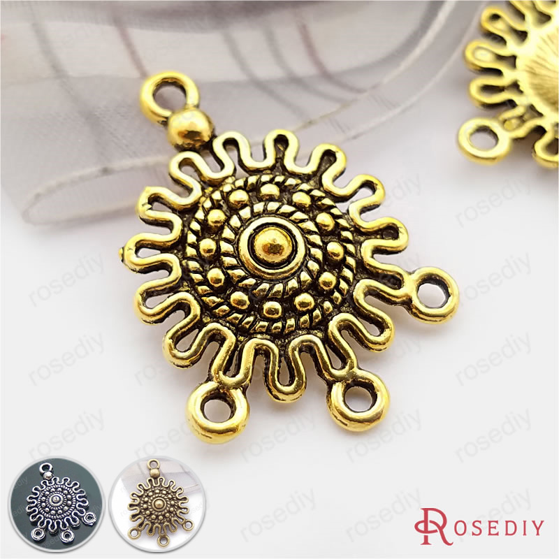 (30508)20PCS 20*17MM Antique Gold Plated Zinc Alloy Earring Connector Charms Diy Jewelry Findings Accessories Wholesale 20pcs lot zinc alloy antique silver bronze necklace pendant carrier connector diy jewelry findings