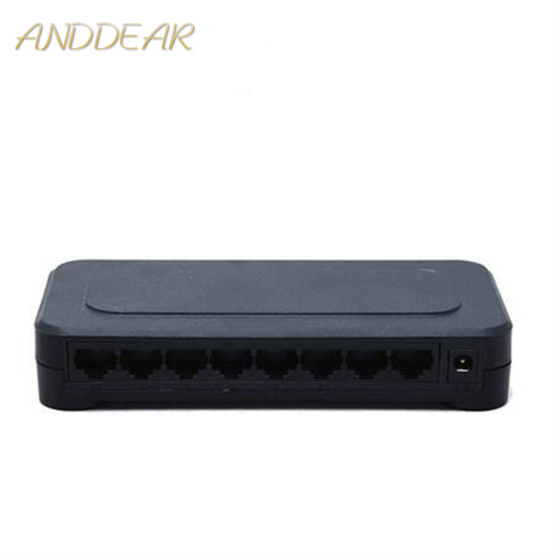 OEM 10 / 100mbps RJ45 8 Port Fast Ethernet Switch Lan Hub US EU Plug 5v Adapter Power Supply Network Switch 1
