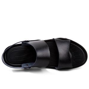 Image 3 - PLUS ขนาดชายหนังรองเท้าแตะแฟชั่น Breathable ชายรองเท้าฤดูร้อนผู้ชายรองเท้าชายหาดรองเท้าแตะชายหาดรองเท้าแตะ Dropshipping