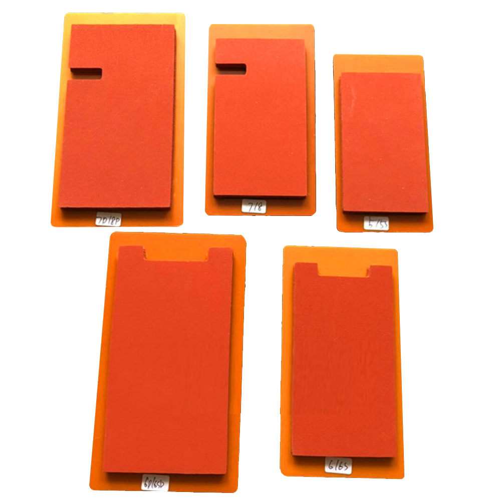 Vacuum Laminating Positioning Mat Mould Silicone Pressure Screen Film Mat For Iphone 5/6/7/8plus X XS Samsung S6/7/8/9 Note 8/9