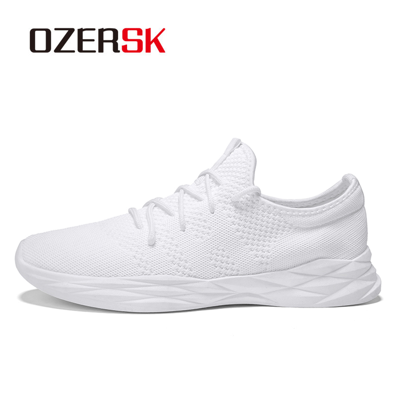 OZERSK 2018 New Outdoor Sport Damping Running Shoes Soft Air Cushion Brand Jogging Shoes Lace Up Breathable Mesh Men Sneakers