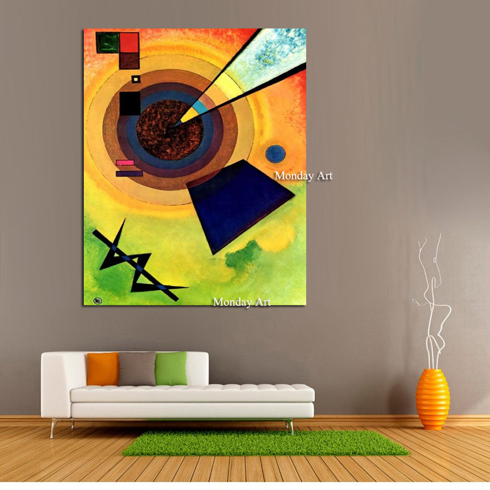 Wassily Kandinsky Oil Painting Classic Cansva Art Wall Poster And Sticker Handmade Oil Painting for Living Room Bedroom Decor in Painting Calligraphy from Home Garden