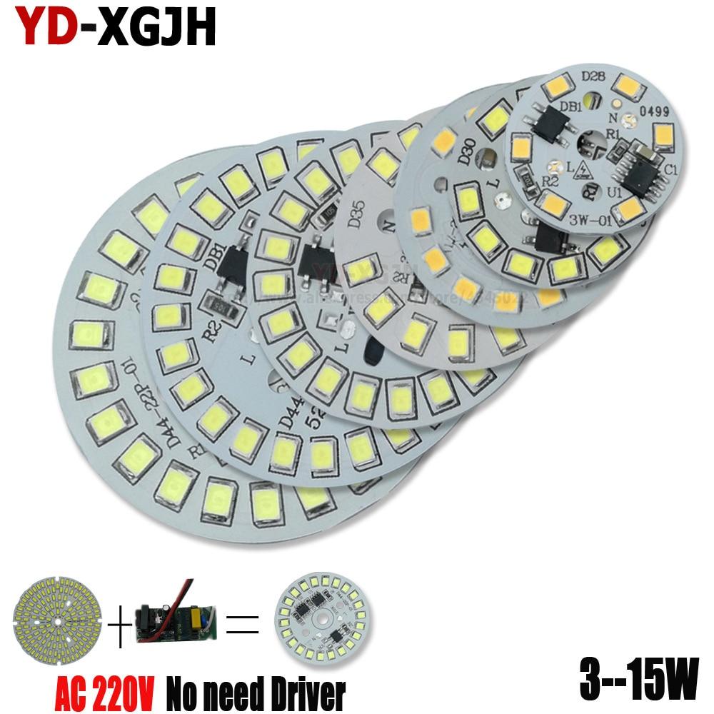 2 pz 3 w 5 w 7 w 9 w 12 w 15 w AC 220 v Smart Driver IC pcb led del pannello della lampada 2835 SMD integrato fonte di Luce per LED blub Da Incasso FAI DA TE