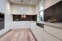 2019 modern high gloss white lacquer kitchen furnitures with island cabinet customized kitchen cabinets L1606038