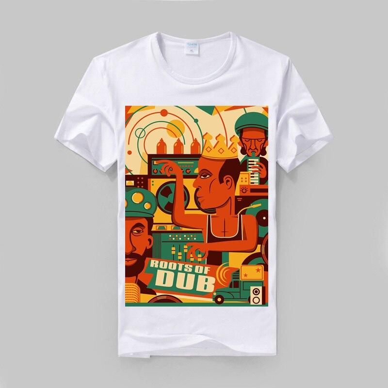 Bob Marley ne le dub jamaïque reggae style de mode mince t-shirt modal coton d'été nouveau