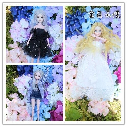 Nouveauté 1/6 BJD/SD poupée 28 cm 11 pouces 14 poupées articulées jouet BJD poupées avec robe de maquillage perruques chaussures