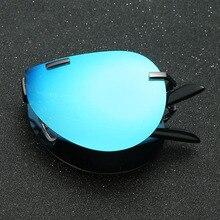 JIE.B Folding Vintage Sun Glasses Pilot Eye Sunglasses Men Aluminum Alloy Designer Metal Frame Mirror Glasses Polarized Glasses