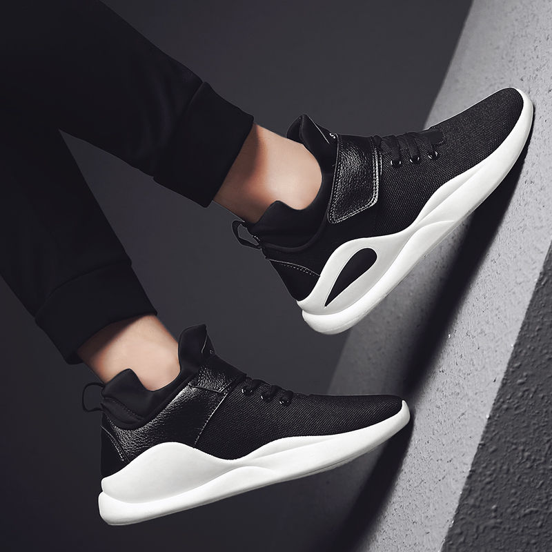 2018 Mens Fashion Nylon Cloth And Leather Espadrilles Shoes Male Adult Lace-Up Solid Cheap Sneakers Office Krasovki Flats