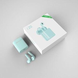 Image 5 - 새로운 i20 tws 무선 블루투스 5.0 이어폰 스테레오 이어 버드 헤드셋 게임 스포츠 미니 헤드폰 스마트 폰용 충전 박스 포함