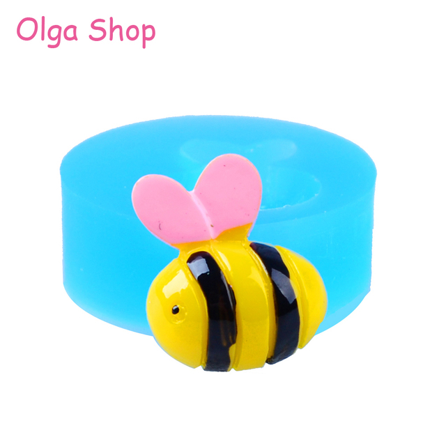 Image of: Pastel Dyl Honeybee Bee Flexible Silicone Mold Polymer Clay Scrapbooking Mini Cupcake Topper Fondant Kawaii Animal Mold Polymer Clay Kawaii Animals Wwwpicturesbosscom