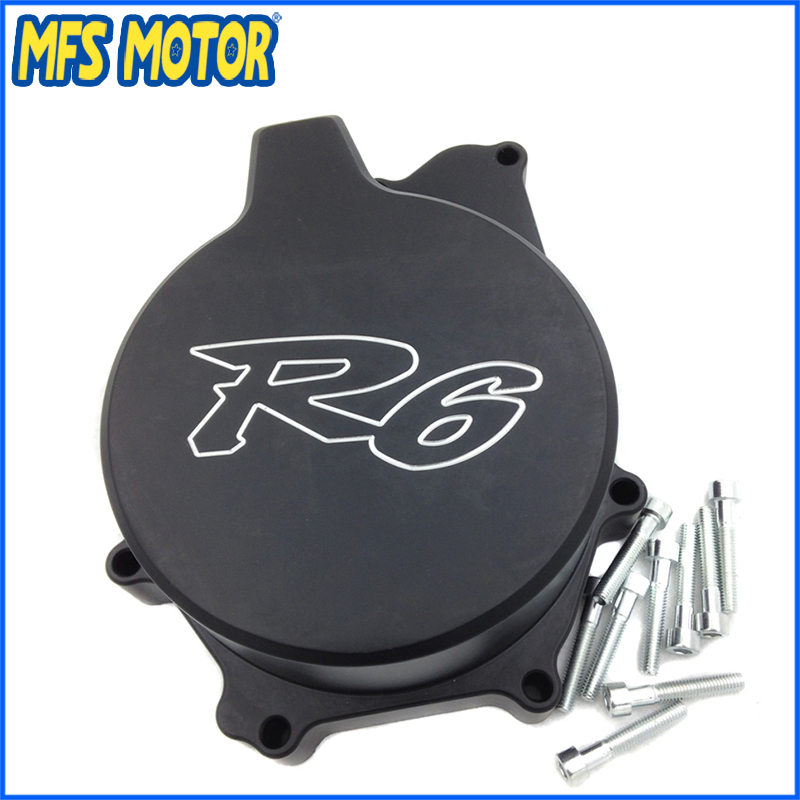 Freeshipping Motorcycle Left side Engine Stator cover For Yamaha YZF R6 YZF-R6 1999 2000 2001 2002 Black