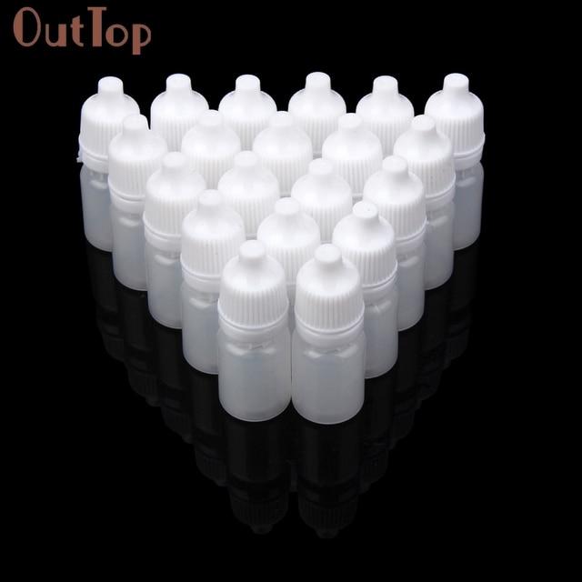 OutTop 50 piezas de 5 ml/10 ml/15 ml/20 ML/30 ML/50 ML botellas de gotero exprimibles de plástico vacías gotero líquido de ojos botellas recargables 18mar29