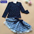 Baby Winter Dress For Girls Cotton Long Sleeve Princess Girls School Dresses Polka Dot Toddler Girls Clothes Bow Kids Clothing