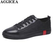 Itália Homens Marca de Moda Sapatos de Skate Rendas Até Respirável  Formadores Homens Sapatos de Couro 87306bc2ec9