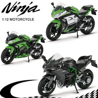 Motorcycle Toy 1:12 Ninja H2R / 250 Alloy Mountain Bike Off Road Motorbike Motocross Motorcycles Model Toys For Children