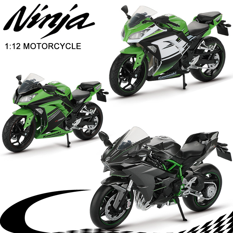Motorcycle Toy 1:12 Ninja H2R / 250 Alloy Mountain Bike Off Road Motorbike Motocross Motorcycles Model Toys For Children