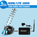 GSM 4G LTE de 1800 mhz Teléfono Celular Repetidor DCS 1800 mhz Repetidor Del Teléfono Celular Amplificador de Señal + GSM Móvil antena + Cable Coaxial