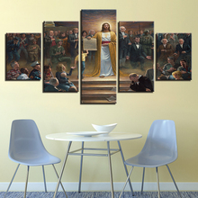 "Christian Wall Art Canvas Print Painting 5 Pieces ""Jesus Christ Returns To Earth"""