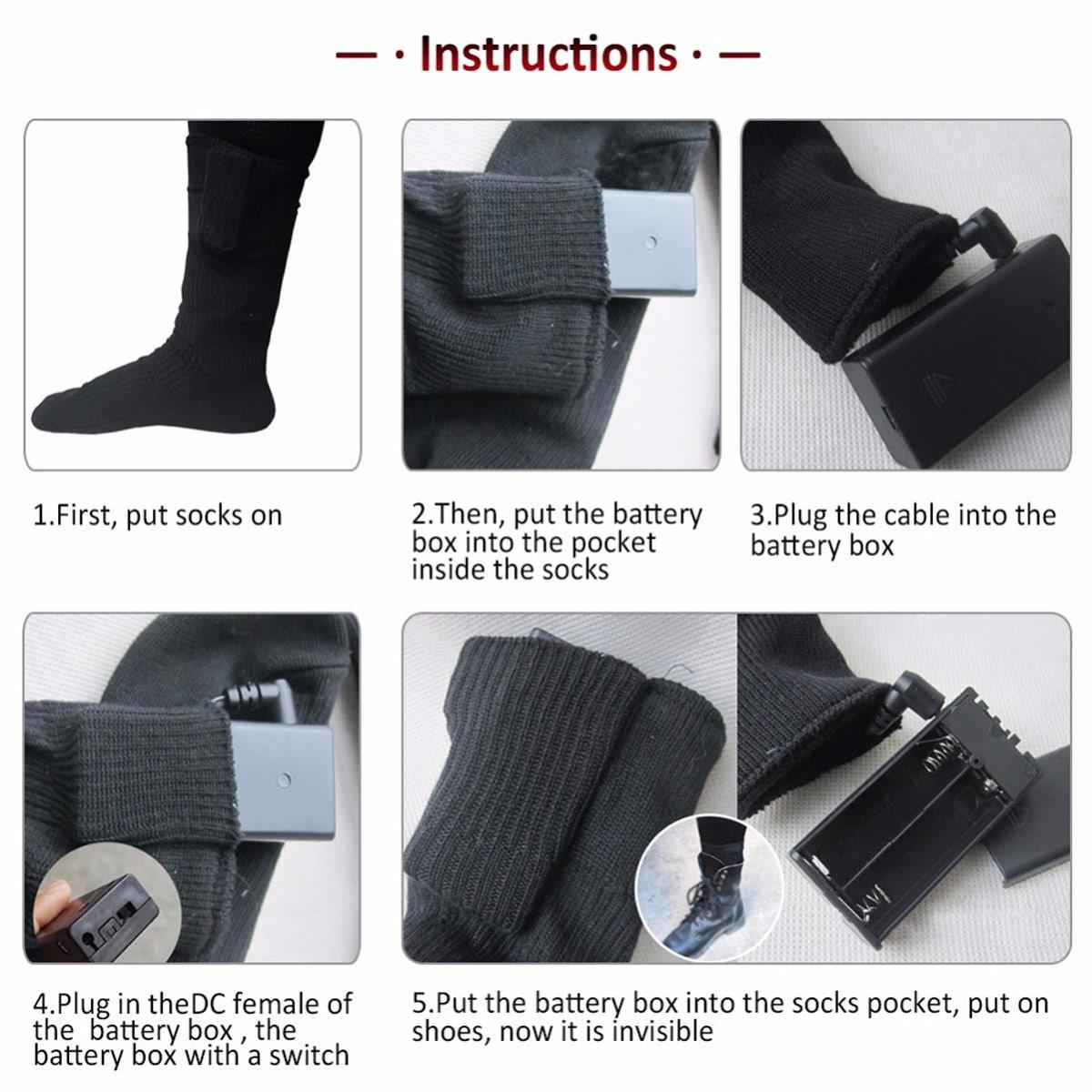 Warmski Unisex Thermal Cotton Heated Socks 9